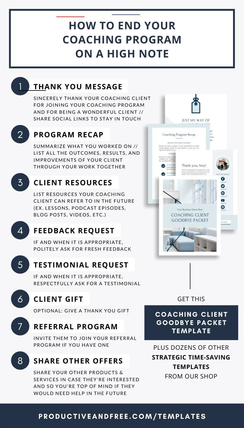 Coaching Client Goodbye Packet Template Canva Coach