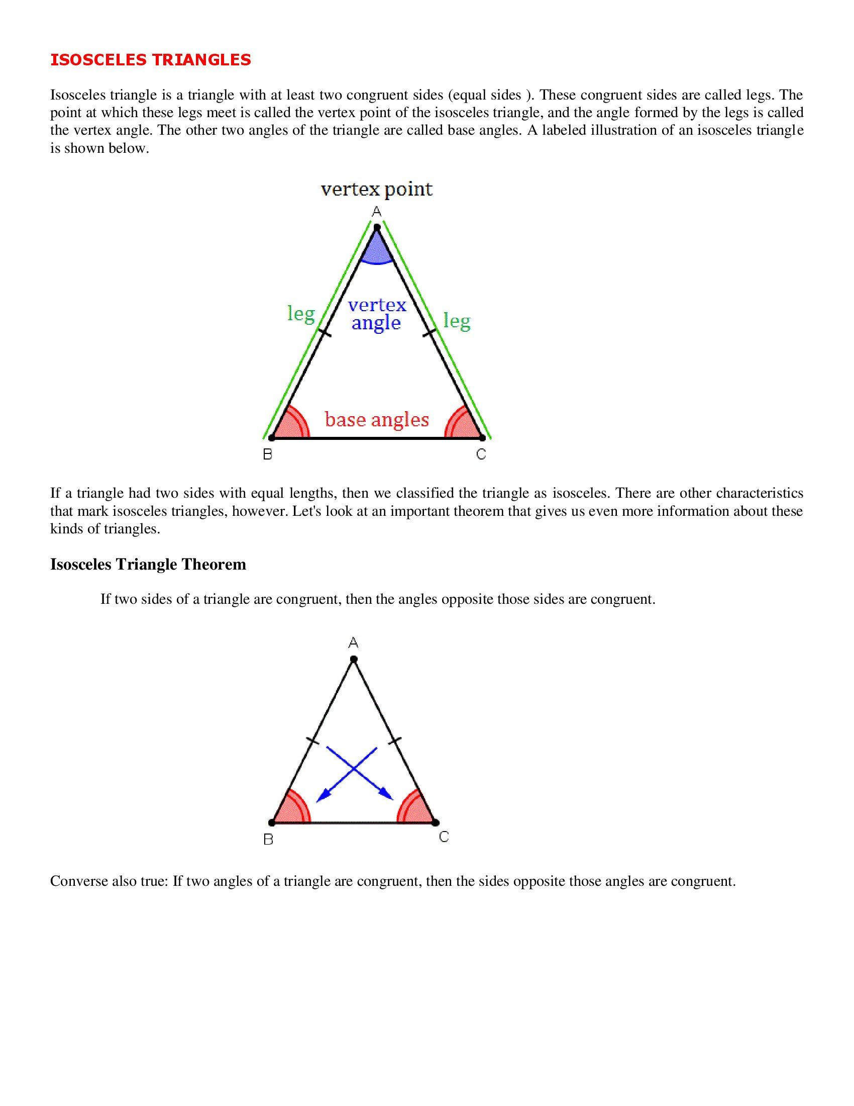Introduction To Triangles Worksheet Isosceles Triangle In 2020 Triangle Worksheet Kids Worksheets Printables Worksheets