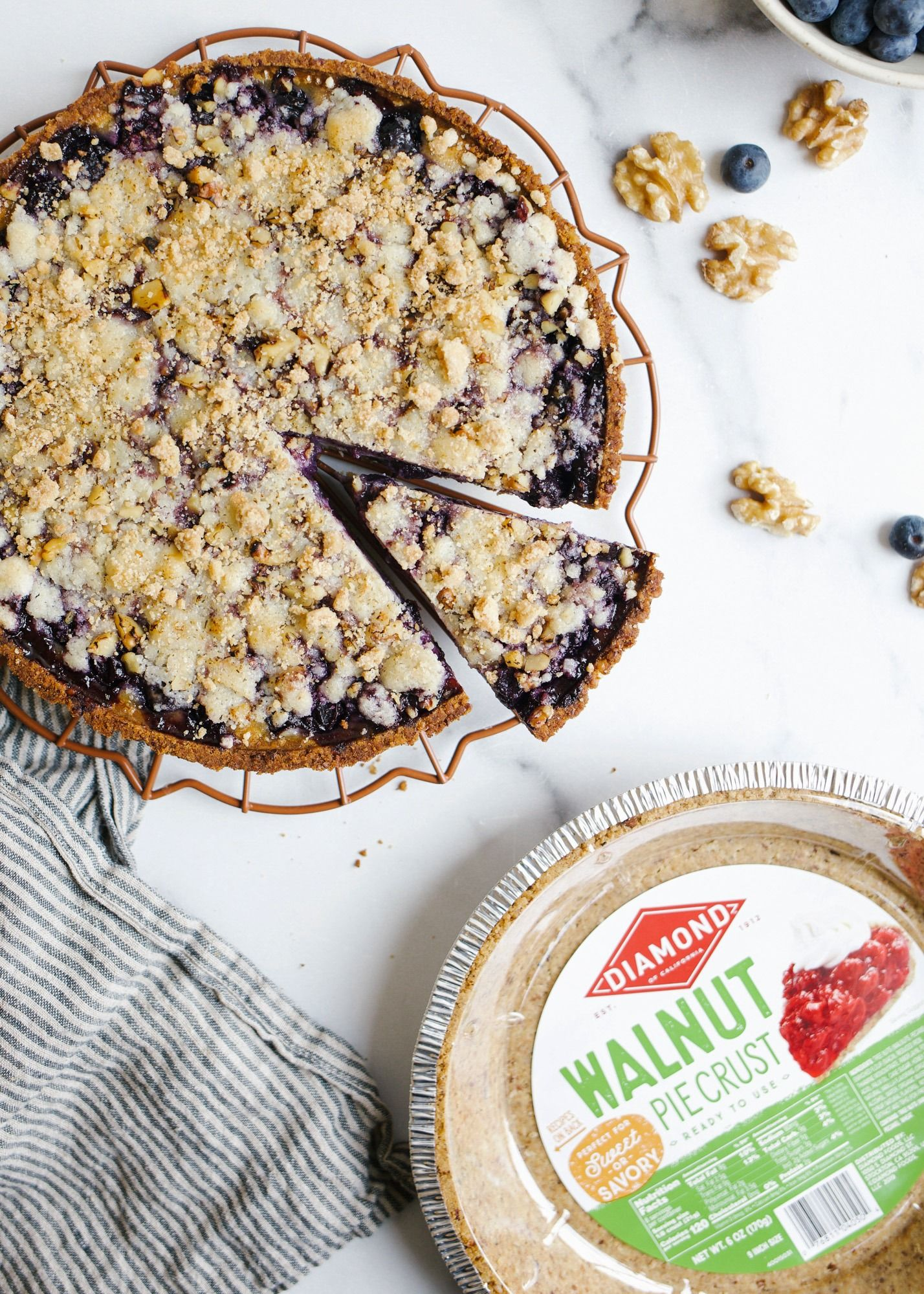 Blueberry Sour Cream Pie Wood Spoon Recipe Walnut Pie Crust Recipe Delicious Pies Walnut Pie