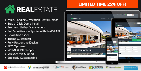 WP Pro Real Estate 7 - Responsive Real Estate WordPress Theme . WP ...