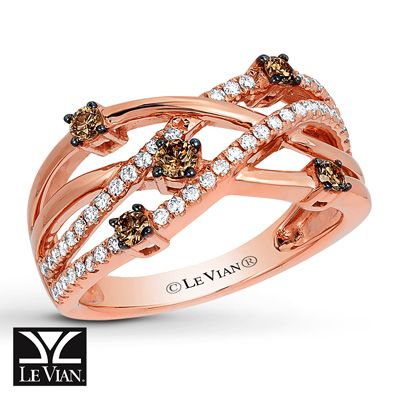 Le Vian Morganite Ring 1/2 ct tw Diamonds 14K Strawberry Gold Ud6OKxo