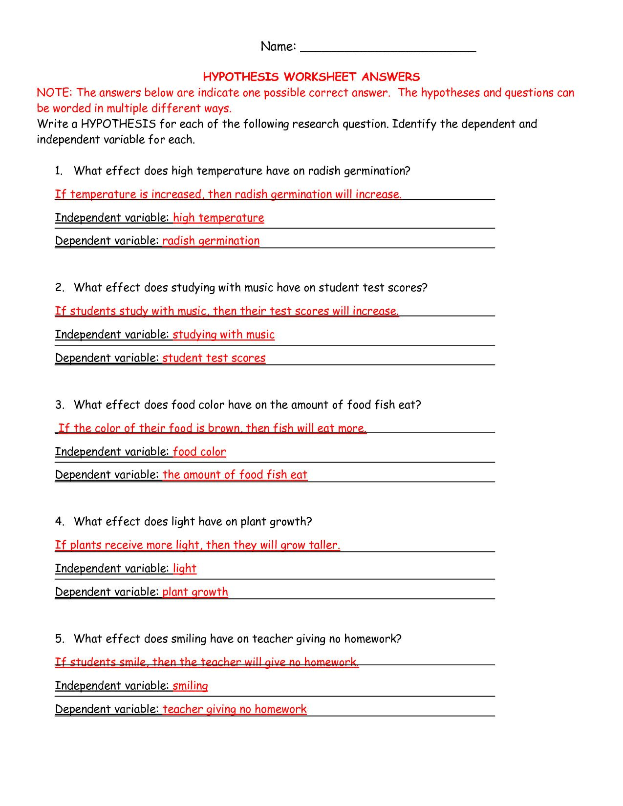 6 7th Grade Life Science Worksheets in 2020 Scientific