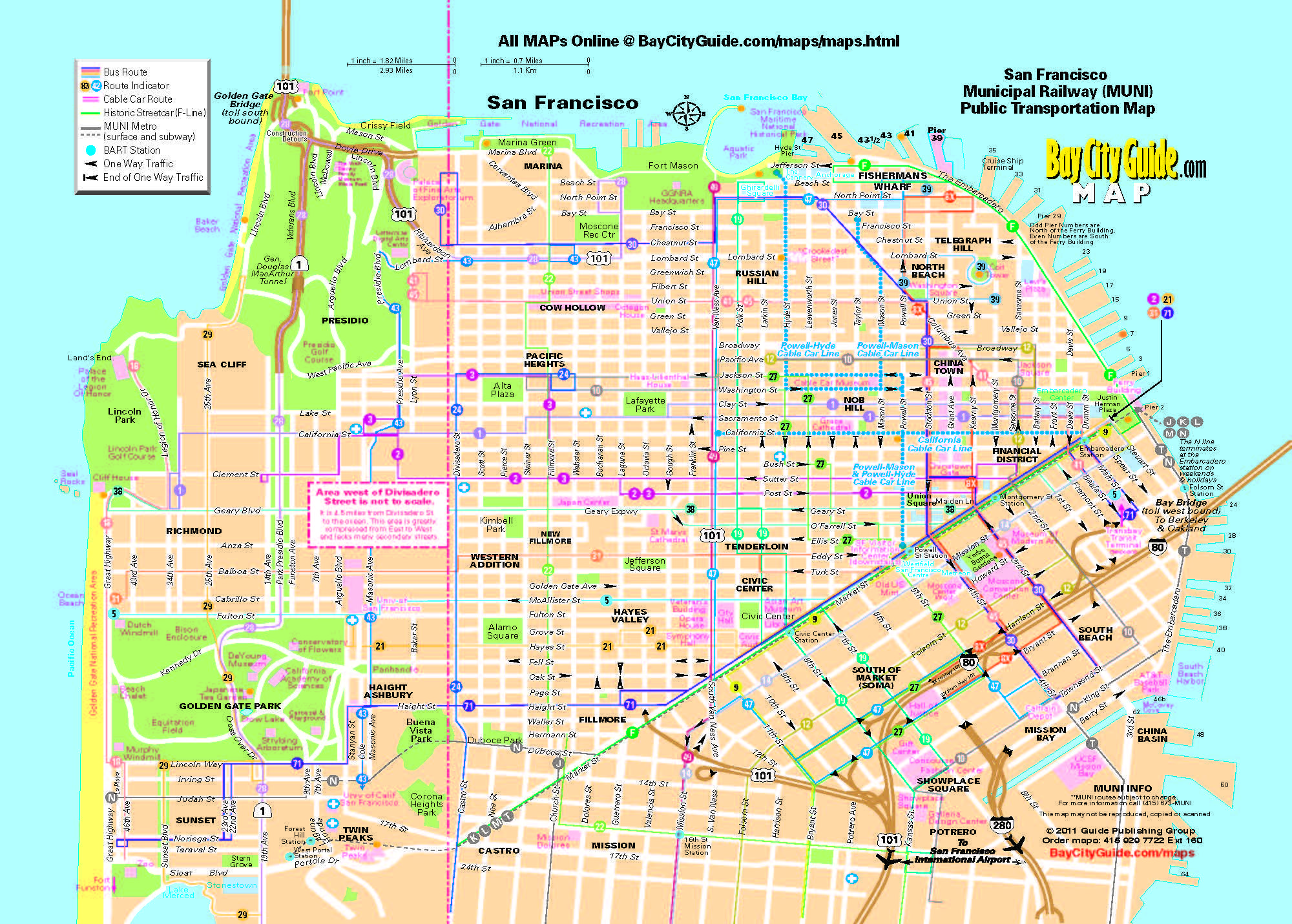 0TouristMapSanFranciscoMuniBusSystem0Ajpg Learn the – San Francisco Tourist Attractions Map
