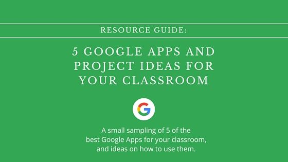 There are so many great Google Apps available for teachers to use in
