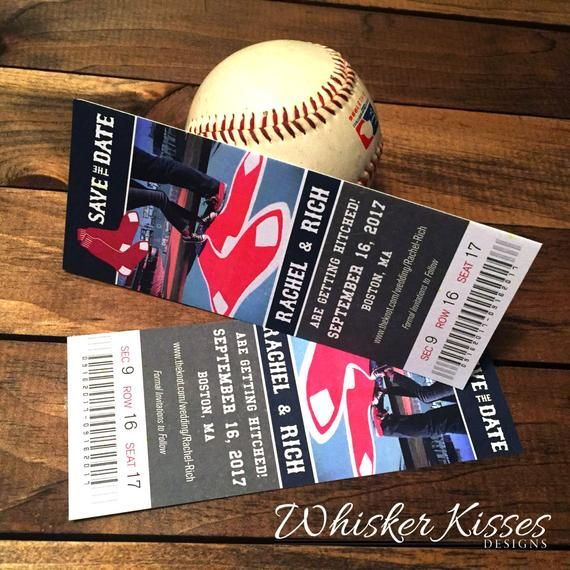 Save The Date Ticket Or Magnet, Sports Wedding, Football
