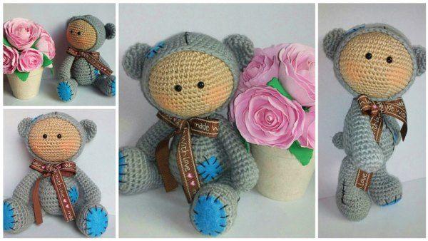 muñecas del bebé amigurumi trajes de animales - patrón de crochet ...