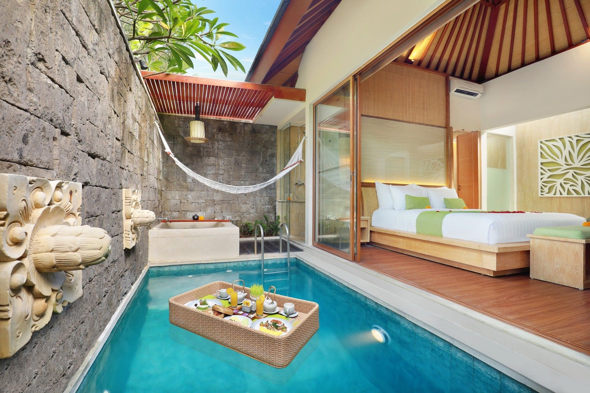 Wonderful 3 Bedroom Villa Umalas Pool Houses Bali House Small Pool Design