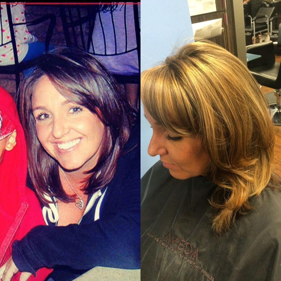 Brunette to blonde transformation #transformation #brunette #blonde ...