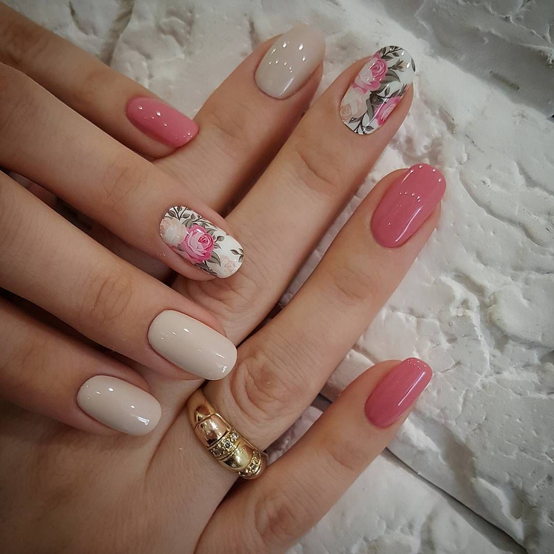 Pink rose nails | Nails | Pinterest | Rose nails, Pink roses and Comment