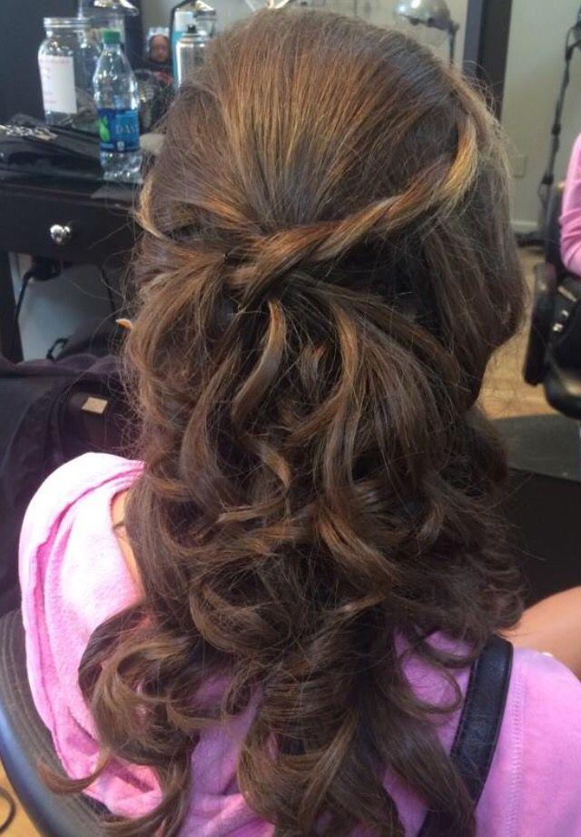 Back view braided long half up | Hc hair, Long hair styles ...