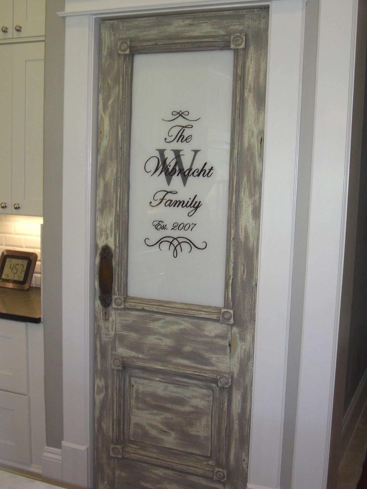Distressed Grey Stained Wood Pantry Doors Home Depot For Home