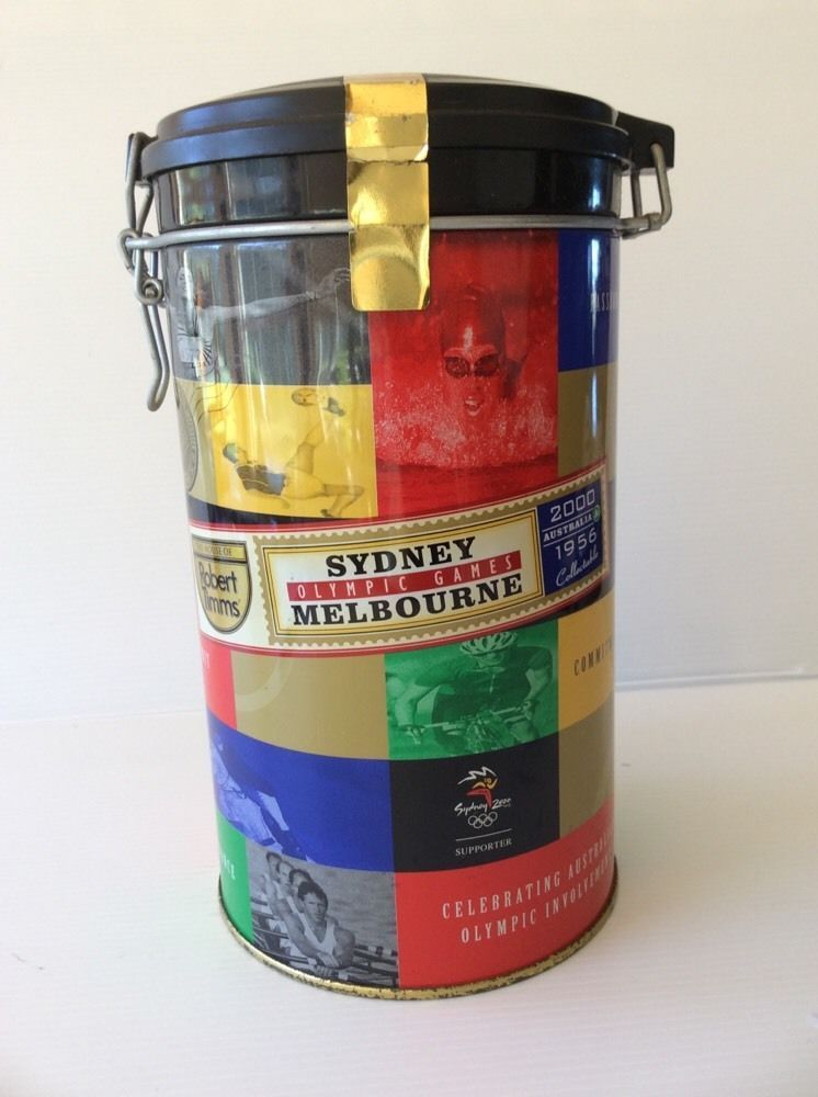 Sydney Olympic Games Melbourne 2000 House Of Robert Timms Coffee Canister Empty