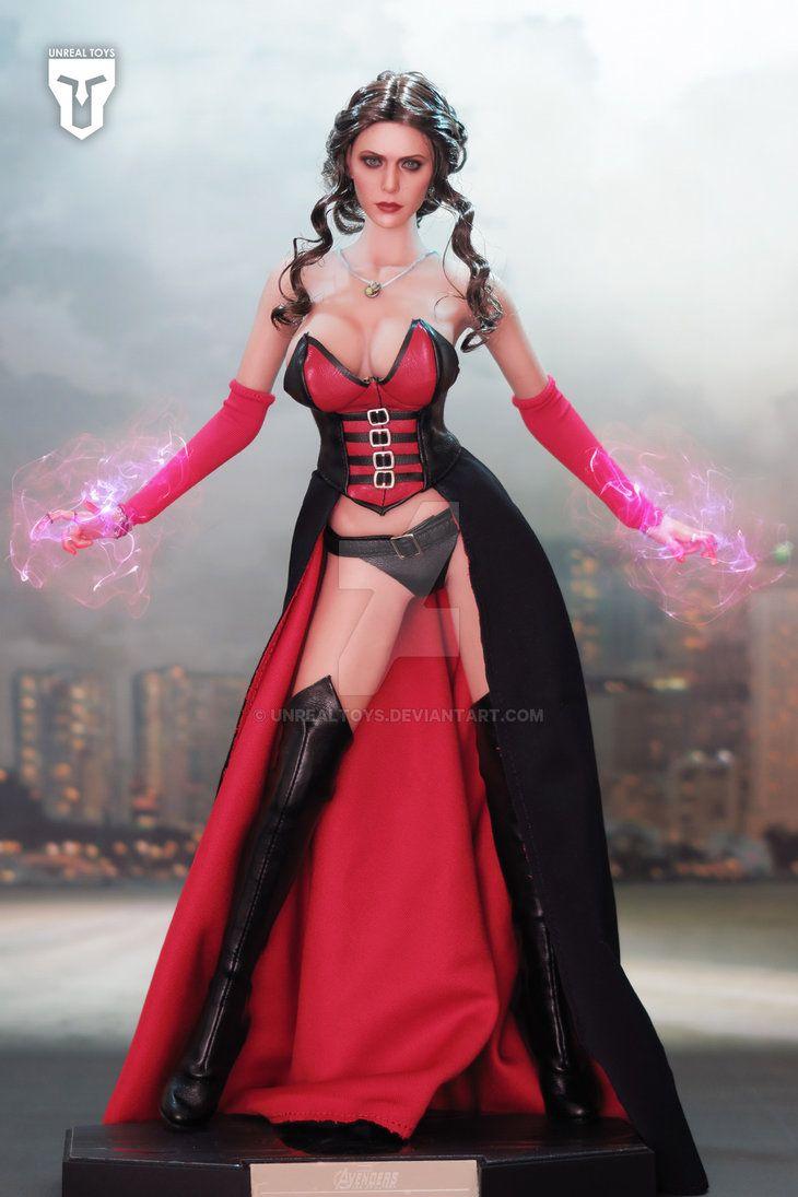 DIY 1//6 Female Body Scarlet Witch Sculpt TBLeague Seamless Flexible Figure Model