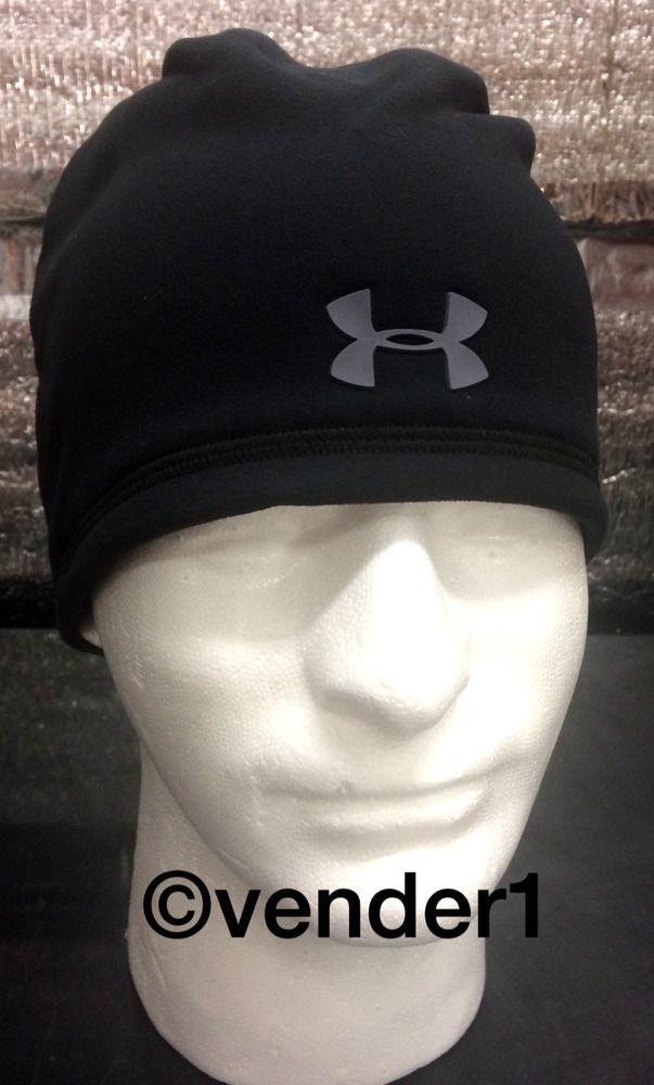 3b295560143 Under Armour Elements Storm 2.0 Beanie Black 1262141-002 Hat Cap NEW   Underarmour  Beanie