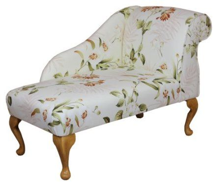 Gorgeous cotton floral print mini chaise longue 41 for Amazon chaise longue