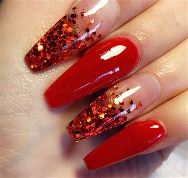 Red Nails Art Designs