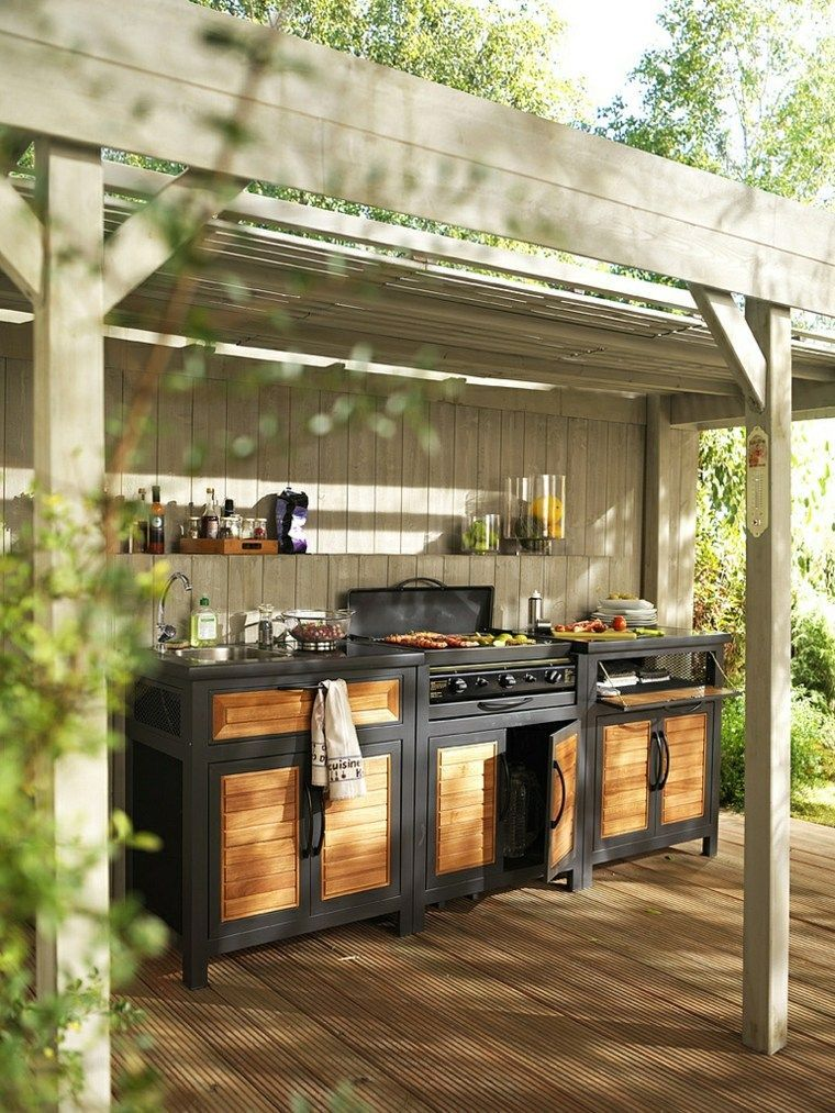 Outdoor Kitchen Ideas on a Budget (Affordable, Small, and ... on Patio Kitchen Diy  id=76051