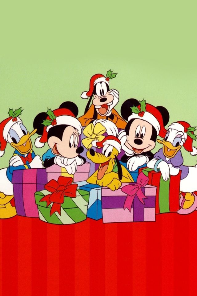 Christmas Disney Mickey Minnie Mouse Friends Con Imagenes