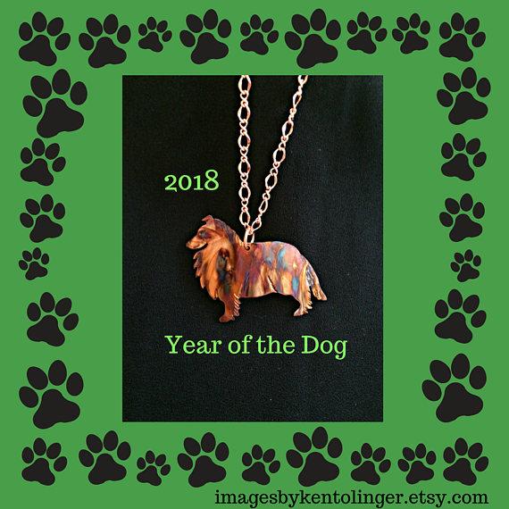 sheltie necklace sheltie jewelry shetland sheepdog collie