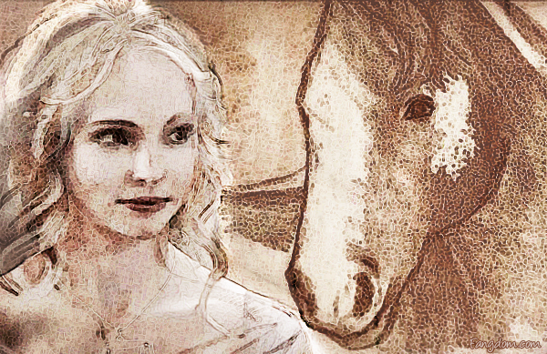 Klaus' drawing of Caroline, turned into digital art. TVD.