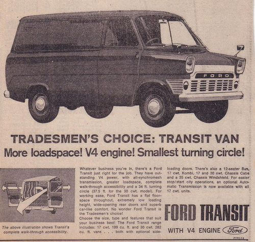 Ford Transit Mk1 Panel Van Ad Ford Transit Car Ford Beer Truck