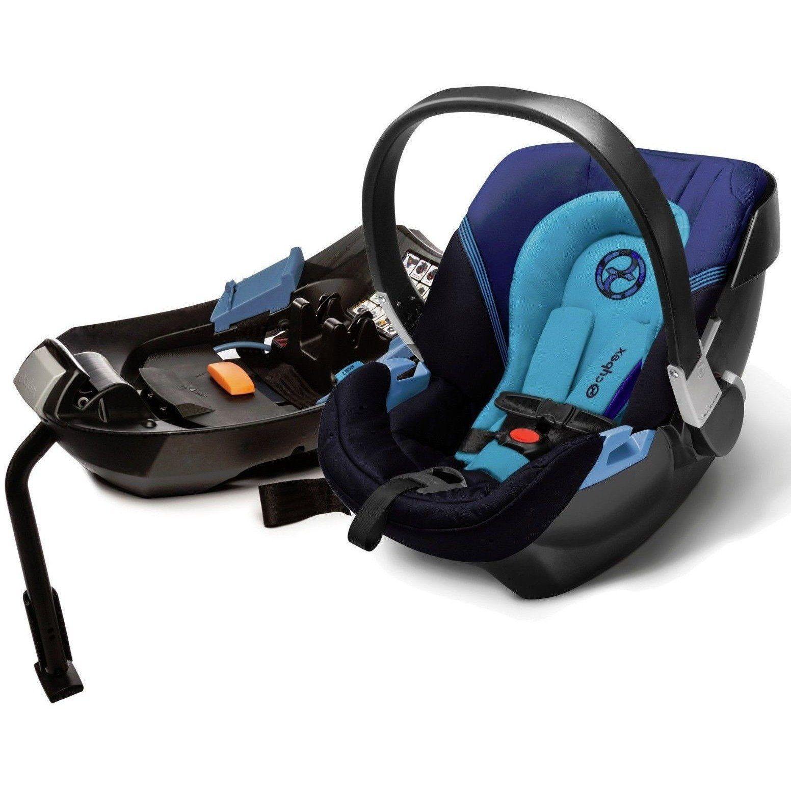 Cybex Aton 2 Infant Baby Car Seat Base W Load Leg True Blue NEW