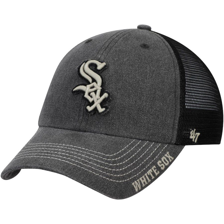 premium selection 49d71 3b161 Men s Chicago White Sox  47 Black Burnstead Clean Up Trucker Adjustable Hat,  Your Price   24.99