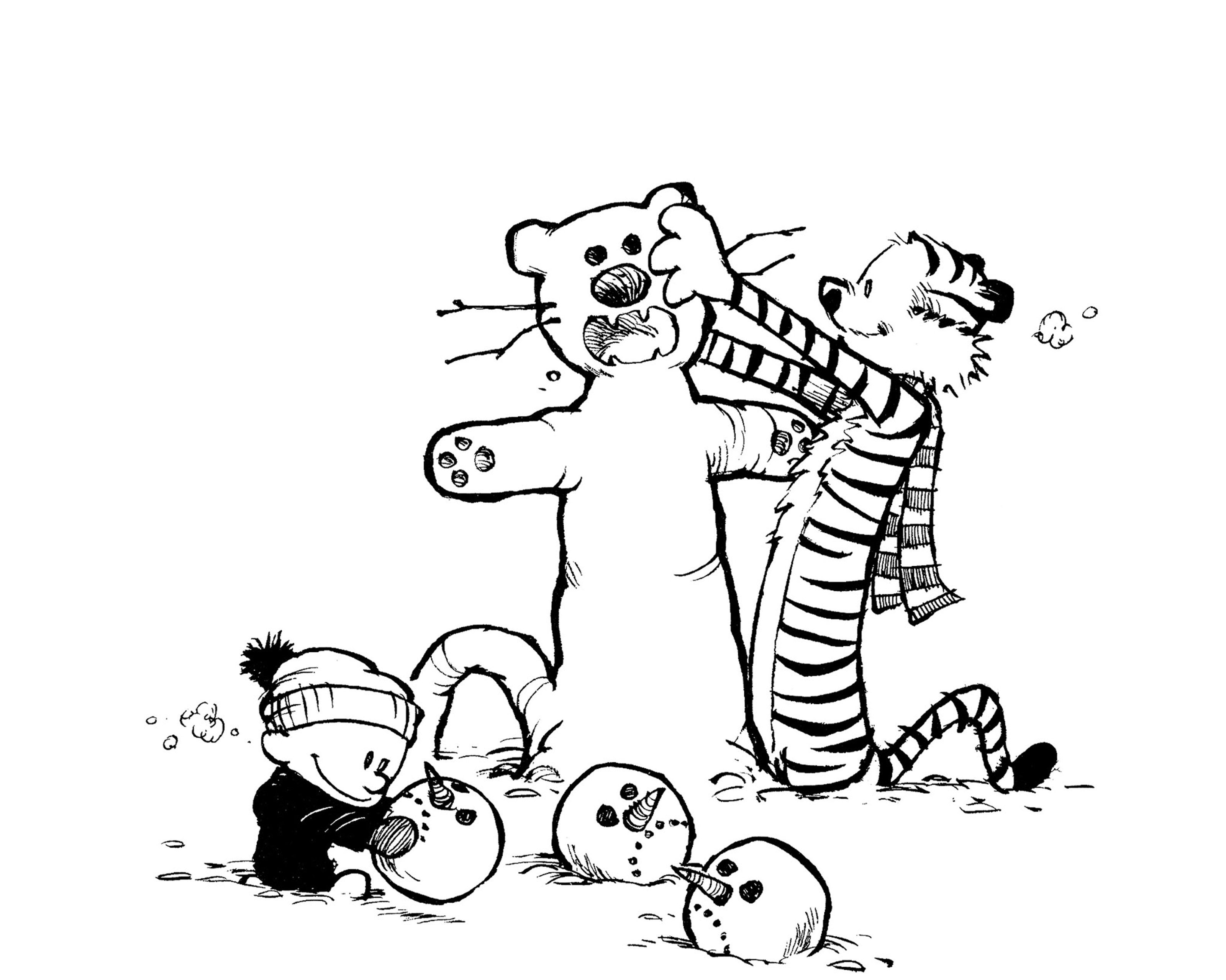 Snow Tiger Comic Android Wallpaper Mobile9 Calvin And Hobbes