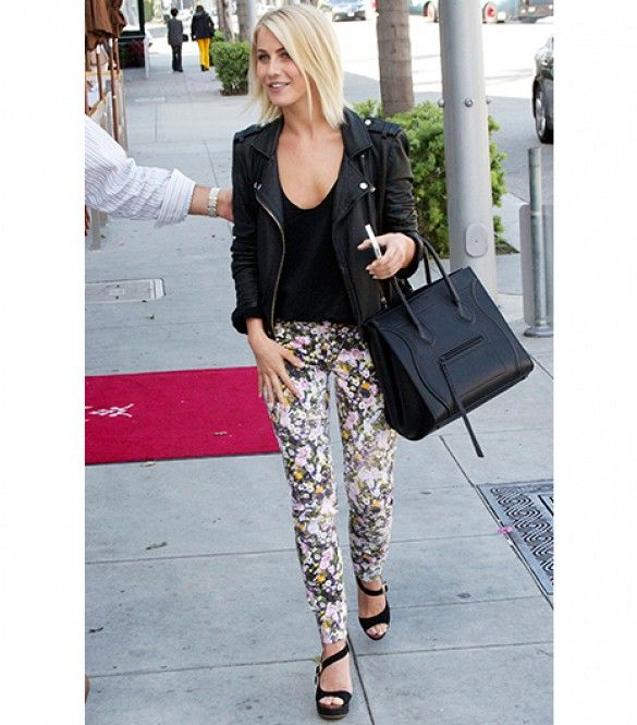 Check Out How Stars Wear Feminine Floral Jeans via @WhoWhatWear