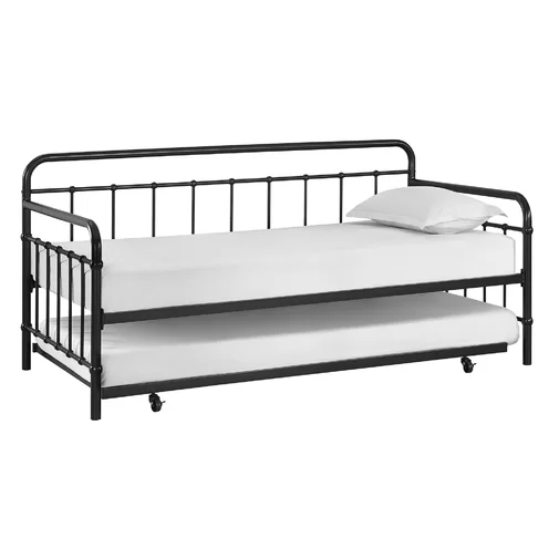 Angelita Twin Daybed With Trundle Daybed With Trundle Metal