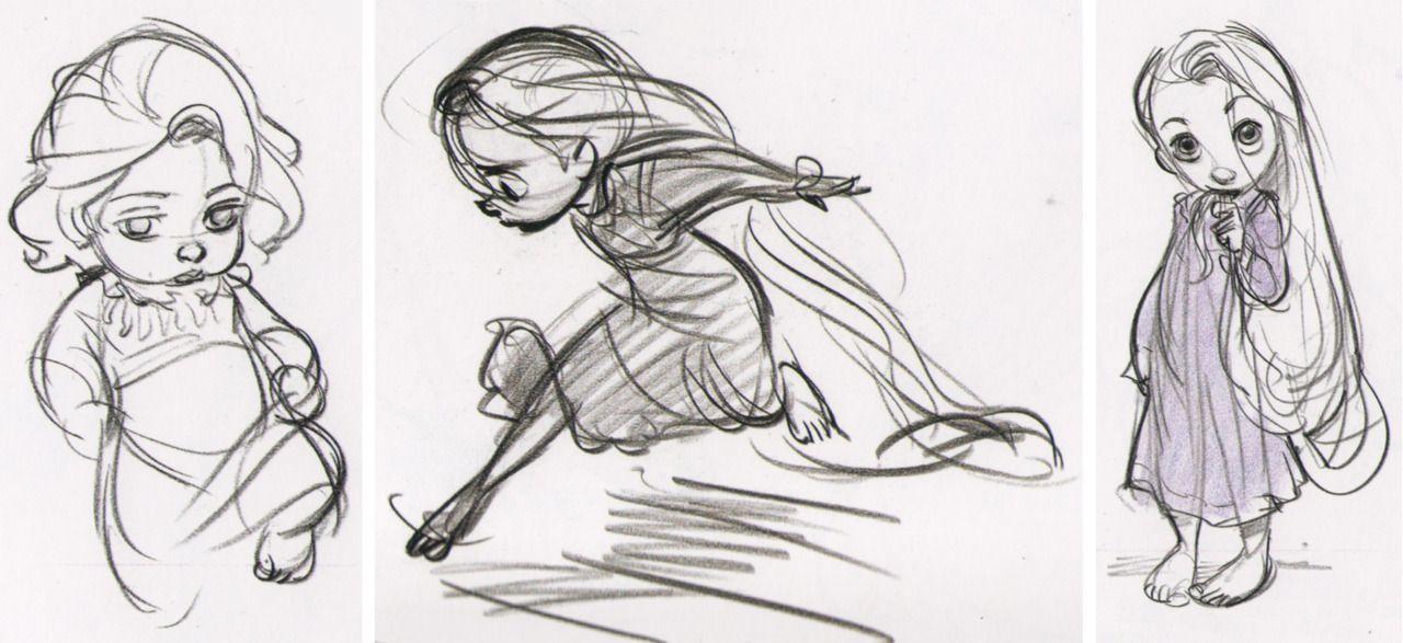 Young Rapunzel Concept Art - Glen Keane