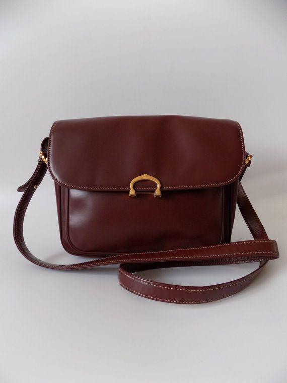 CARTIER Must de Cartier Vintage Burgundy Leather by Sophiashop123 Cartier 5db5772388