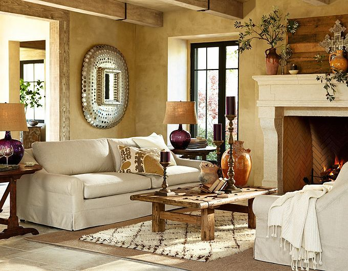 28 elegant and cozy interior designs by pottery barn - Pottery Barn Living Room Designs