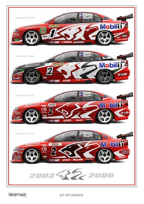 Print 31 Super Cars Touring Car Racing Race Cars