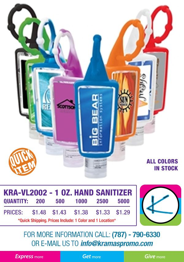 Quick Item 1oz Hand Sanitizer Hand Sanitizer Sanitizer Promo