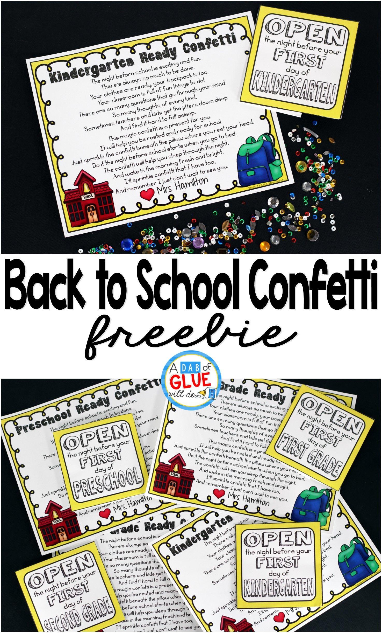 Back To School Confetti