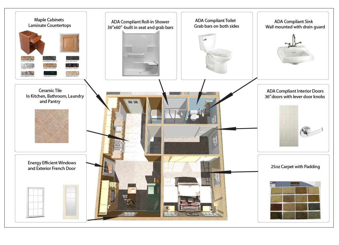 In Law Additions Floor Plans: 600 Square Foot In-law Apartment Floor Plan.