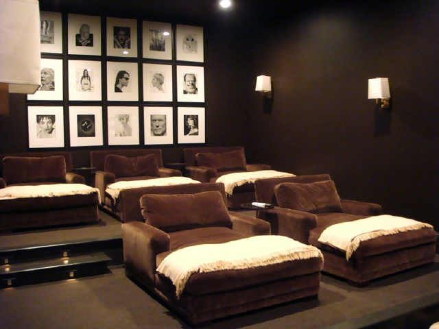 Home Theater Yummy Chocolate Chaise Lounges Home Theater Seating Home Theater Rooms Home