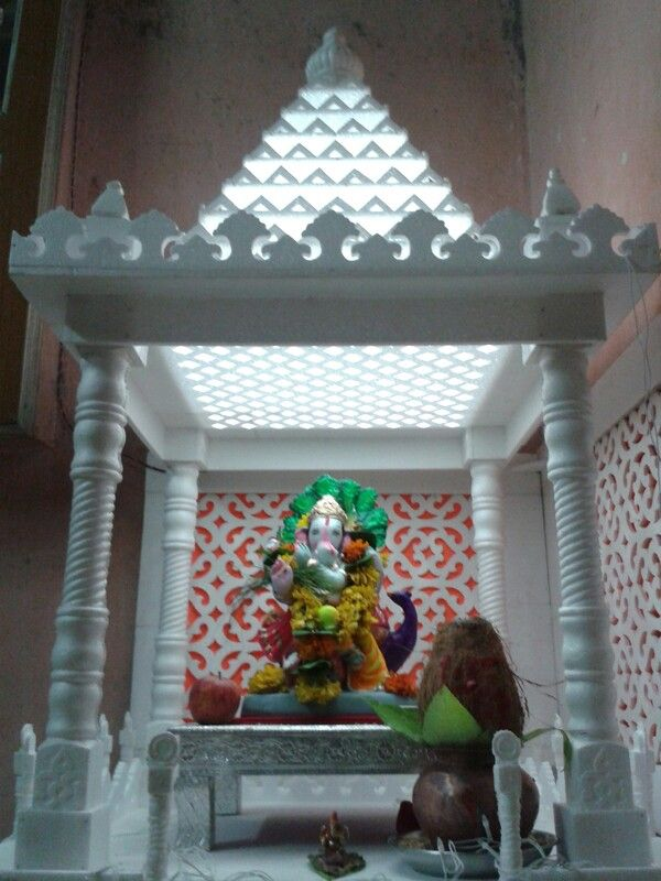 Thermocol Temple Decoration For Ganpati Ganapati Pictures Decorating With