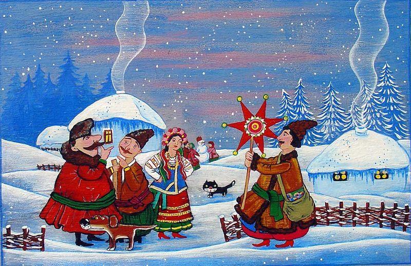 поэтому традиции рождественских открыток так
