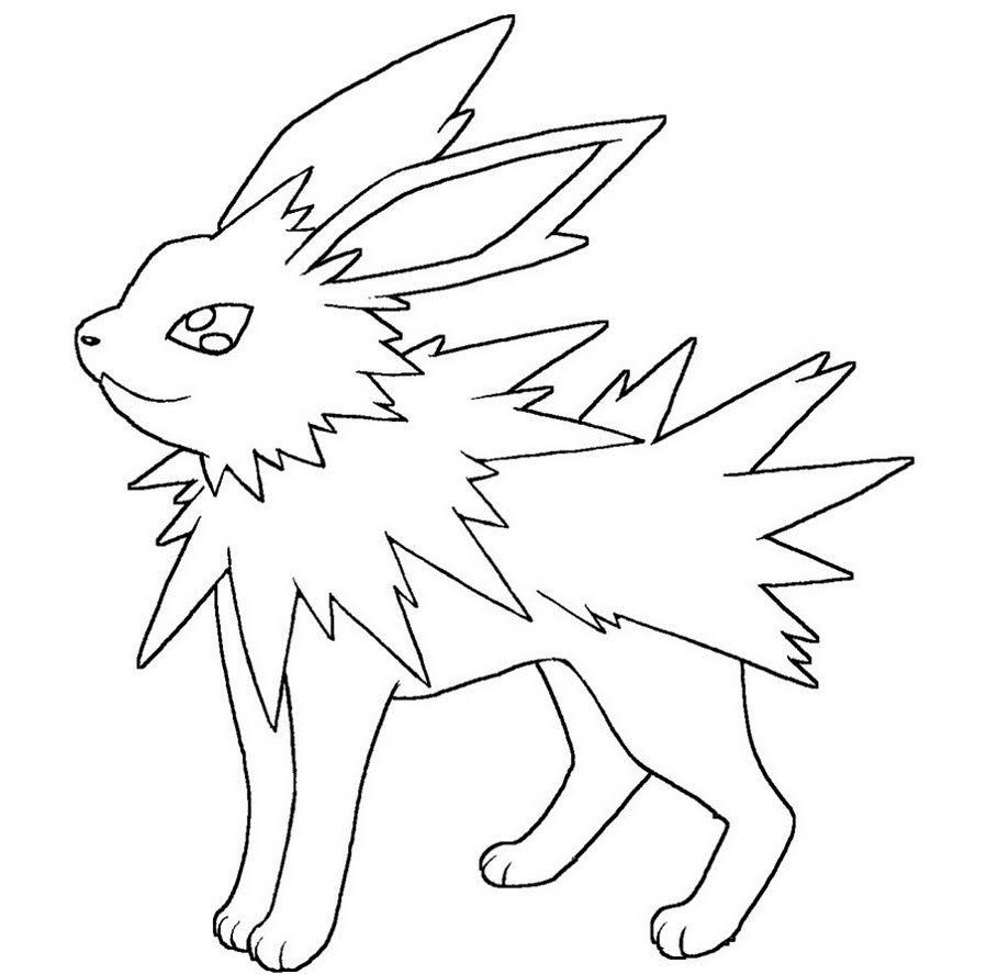 Free Printable Pokemon Jolteon Coloring Pages Pokemon Coloring