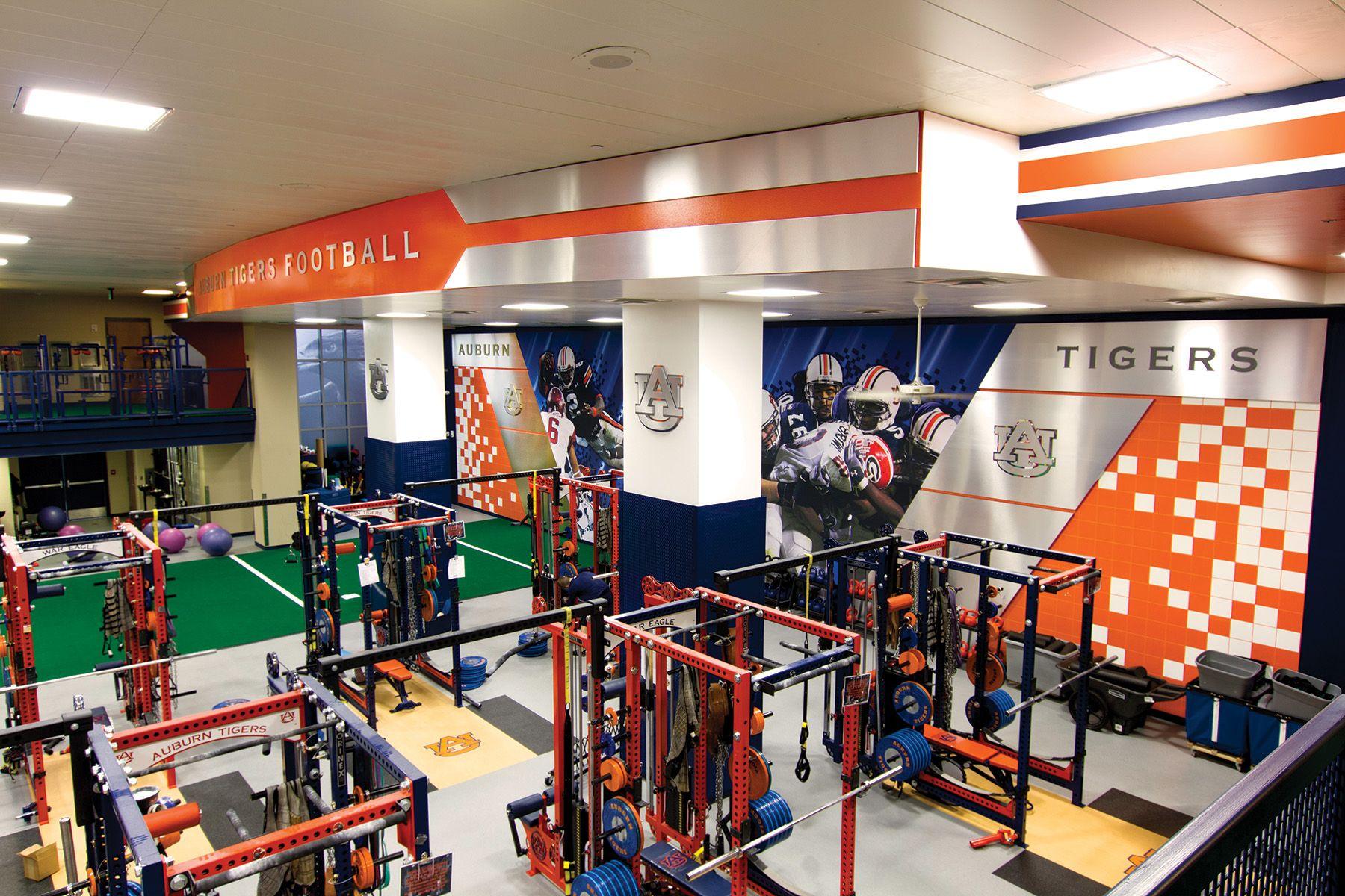 Auburn University Football Weight Room