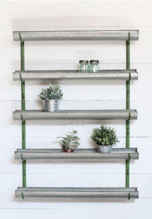 Metal Trough Wall Shelf 7600