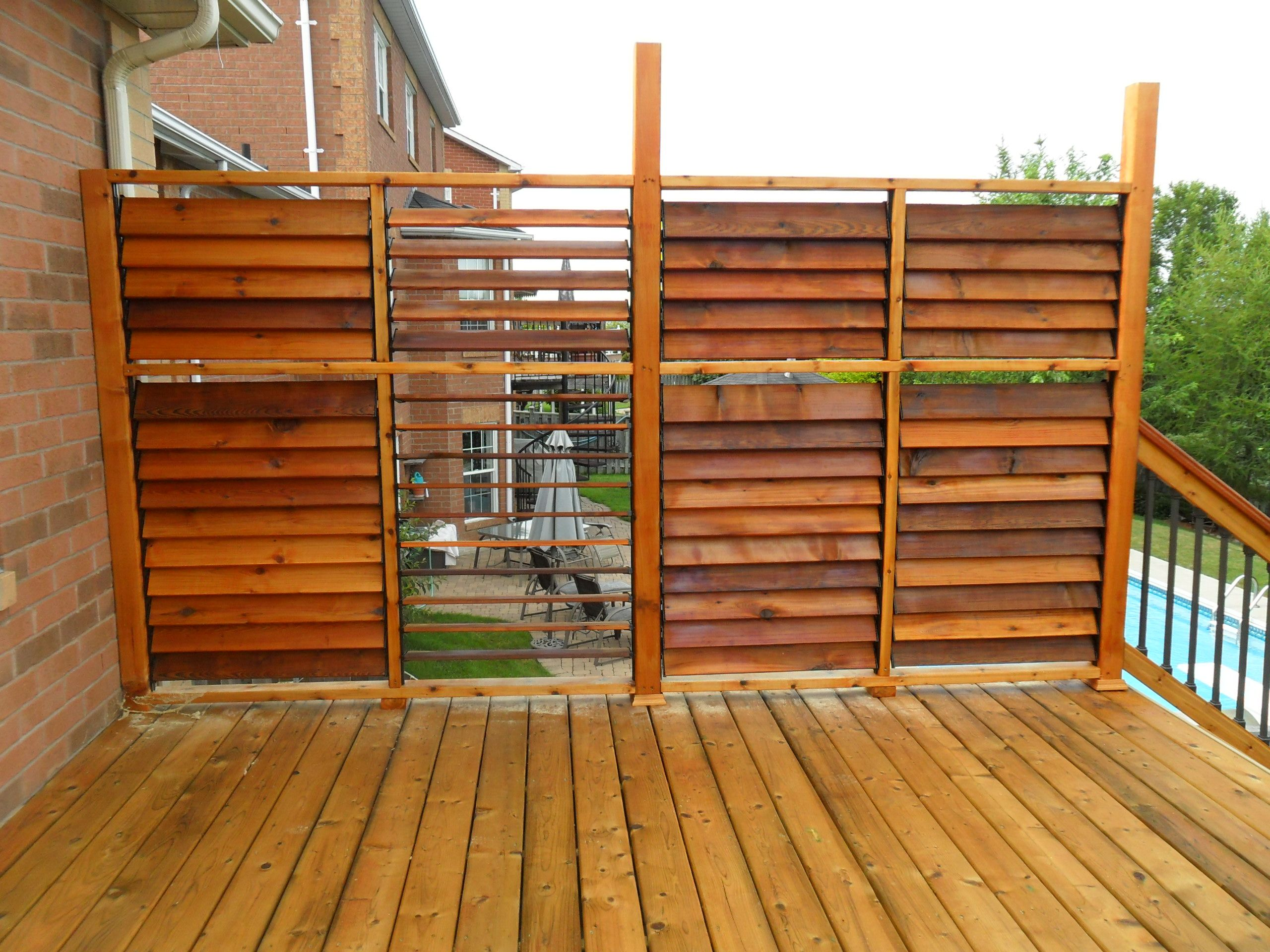 Flex fence creation by thommoknockers custom decks louver for Outdoor privacy panels for decks