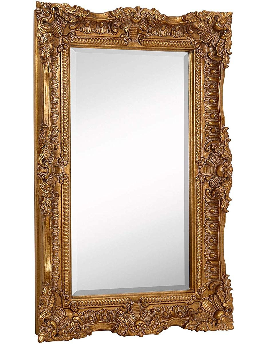 Large Ornate Gold Baroque Frame Mirror, Large Gold Frame Bathroom Mirror