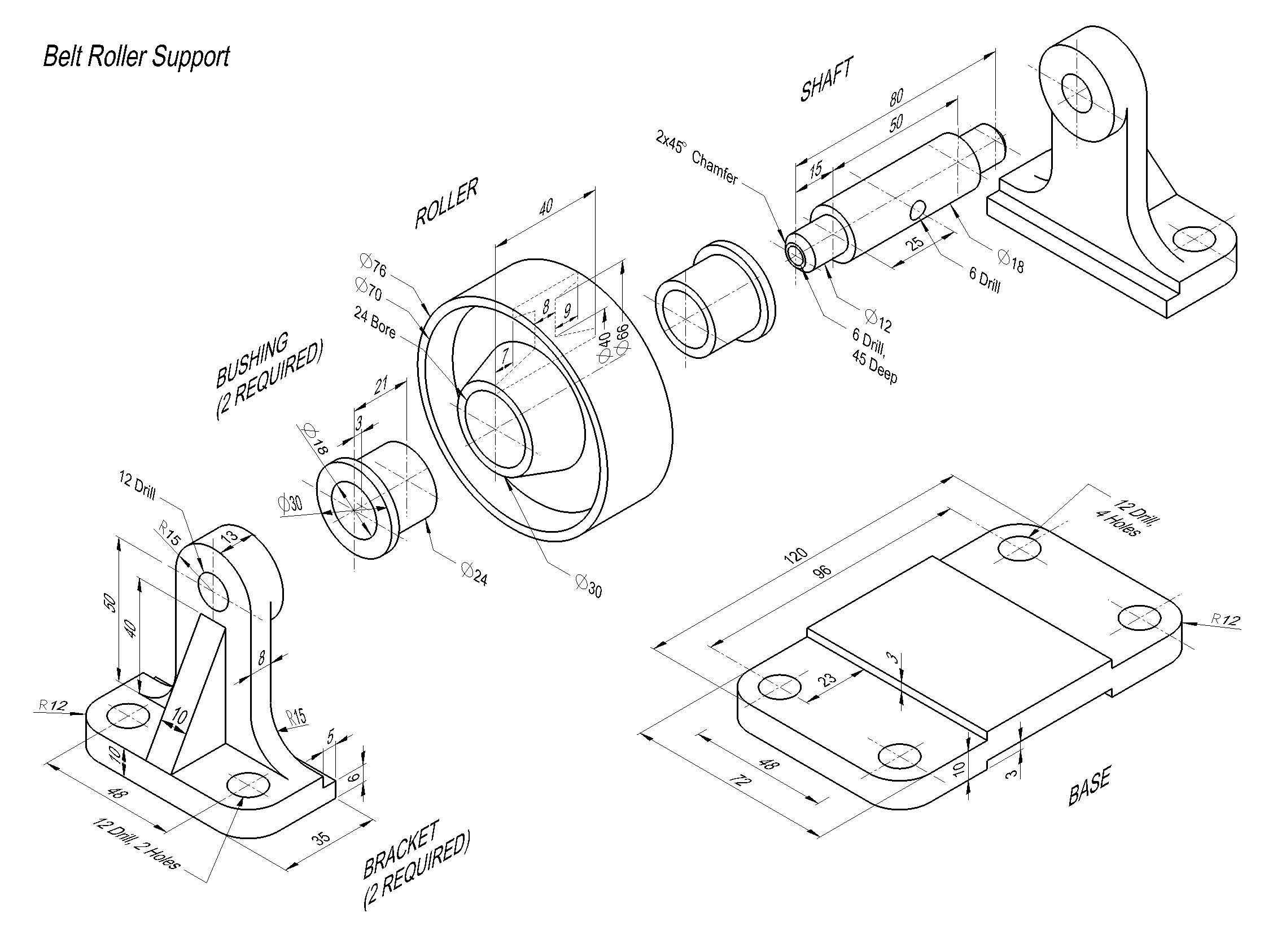 Belt Rollersupport Complete