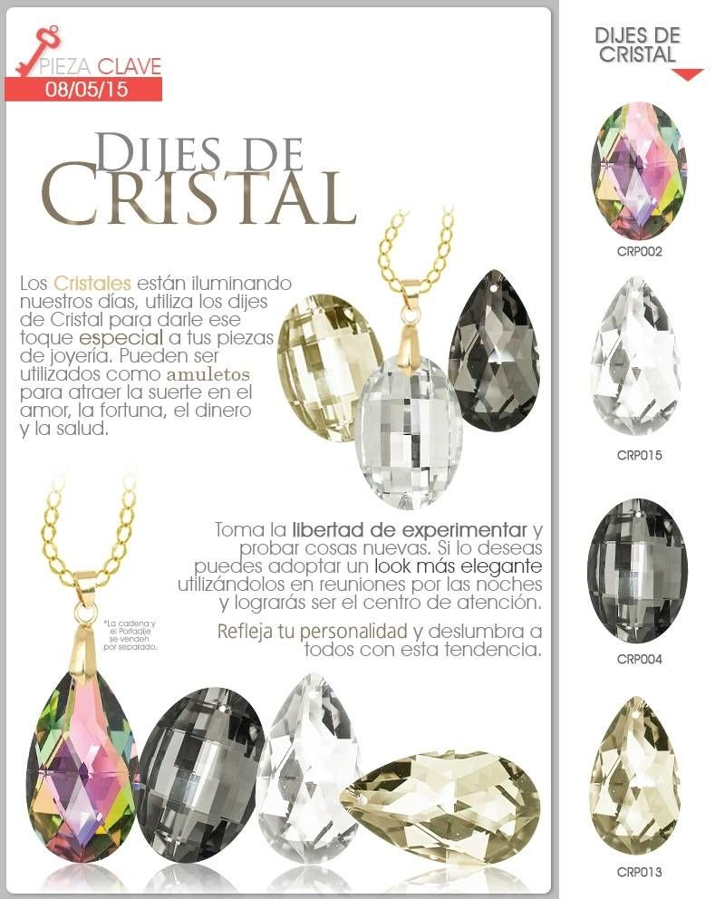 e290dec78dde Dijes de Cristal Collares Trenzados