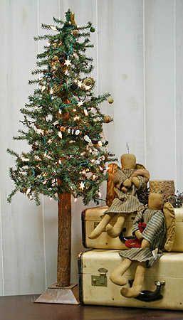 Decorate Alpine Christmas Tree Foot Primitive Alpine Skinny