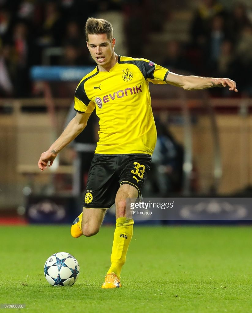 Julian Weigl of Dortmund controls the ball during the UEFA