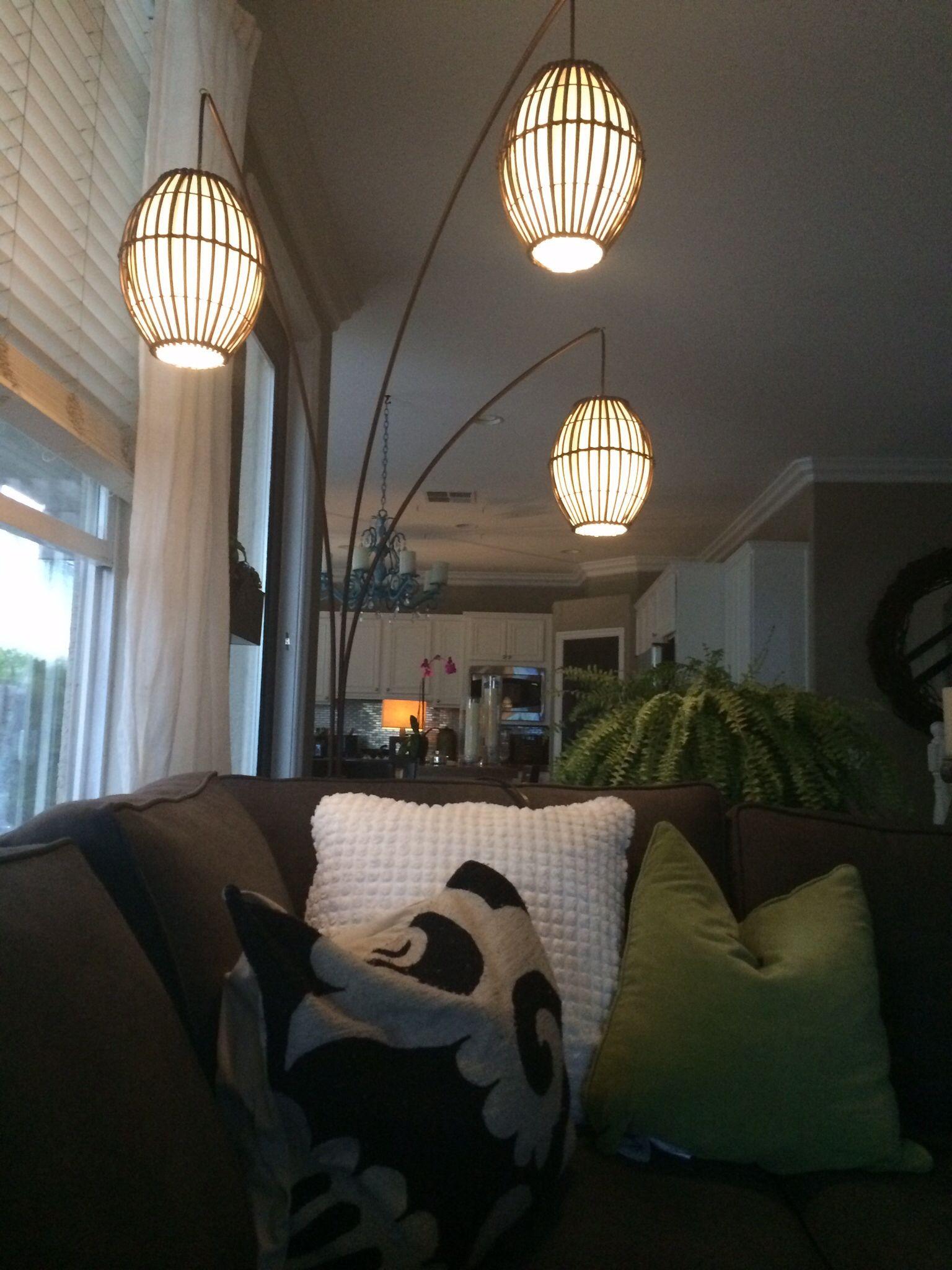 #worldmarket # Tiki Arc Sphere Globe Floor Lamp#asianmoderndecor